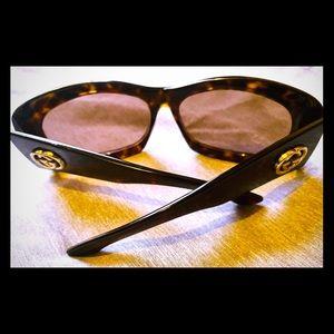 Gucci* Havana Tortoise Style Sunglasses